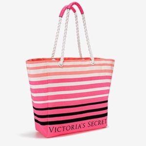 Victoria's Secret Stripe Tote Bag